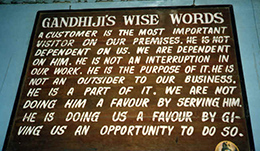 Gandhijis wise words